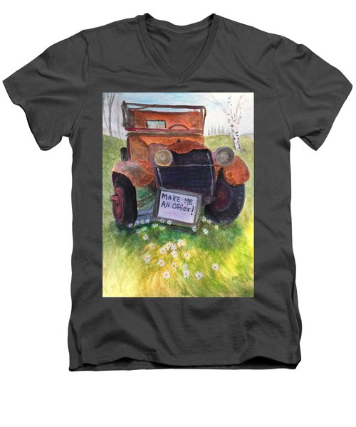 Rusty Old Relic Men's V-Neck T-Shirt