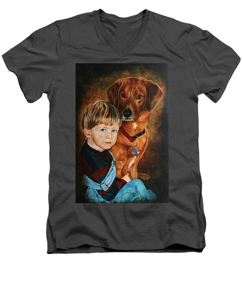 Ryan And Moses Men's V-Neck T-Shirt