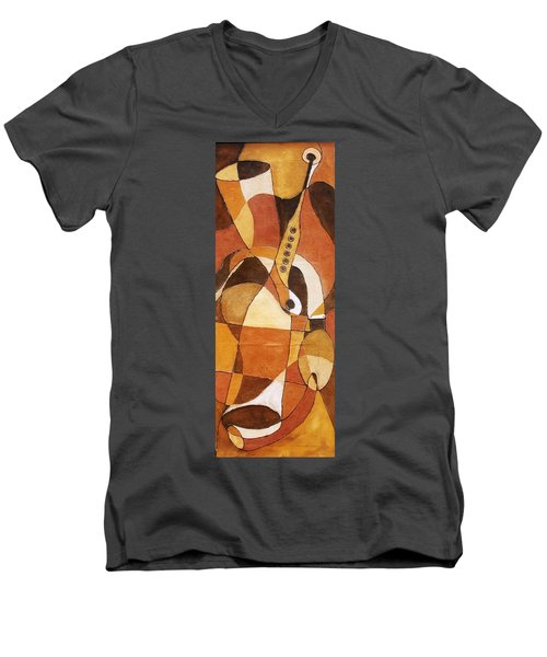 Rythm Of Unity Men's V-Neck T-Shirt by Bankole Abe