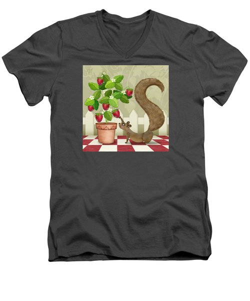 S Is For Squirrel Men's V-Neck T-Shirt