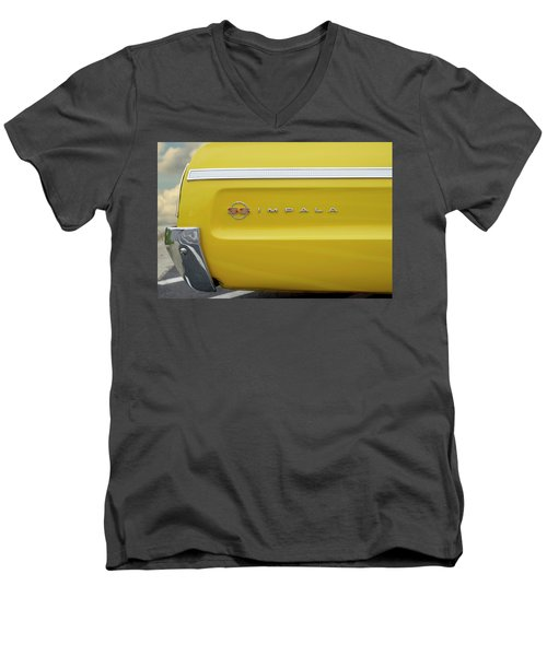 Men's V-Neck T-Shirt featuring the photograph S S Impala by Mike McGlothlen