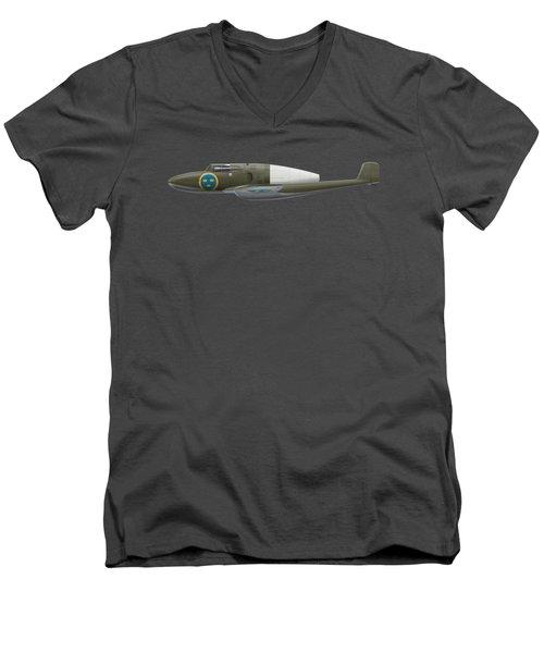 Saab J 21 R - Prototype -  Side Profile View Men's V-Neck T-Shirt