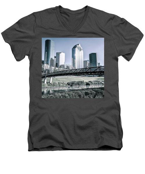 Sabine Promenade Over Buffalo Bayou Men's V-Neck T-Shirt