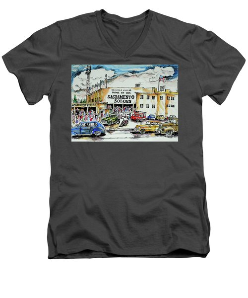 Sacramento Solons Men's V-Neck T-Shirt by Terry Banderas