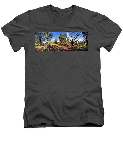 Sacred Canyon, Flinders Ranges Men's V-Neck T-Shirt by Bill Robinson