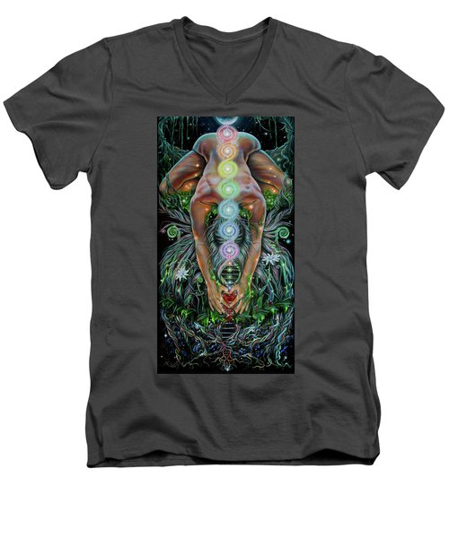 Sacred Cycle Men's V-Neck T-Shirt