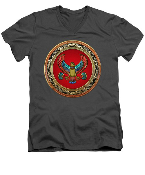 Sacred Egyptian Falcon Men's V-Neck T-Shirt