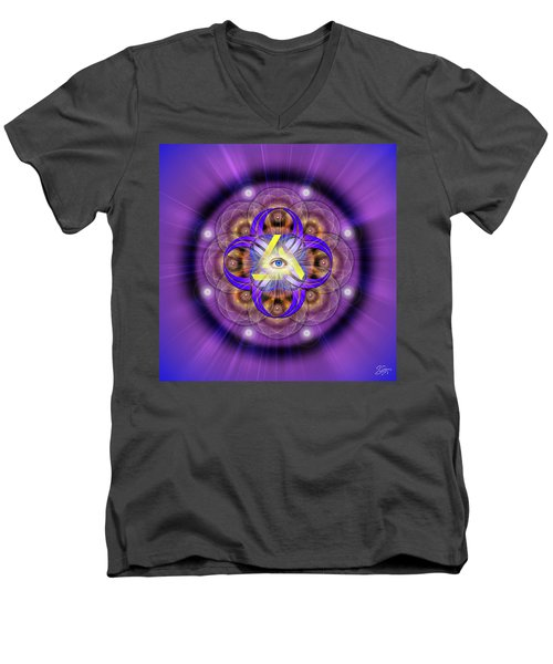Sacred Geometry 639 Men's V-Neck T-Shirt