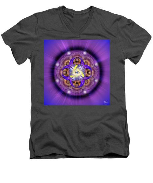 Sacred Geometry 639 Men's V-Neck T-Shirt