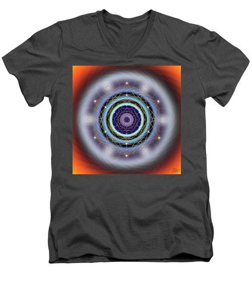 Sacred Geometry 640 Men's V-Neck T-Shirt by Endre Balogh