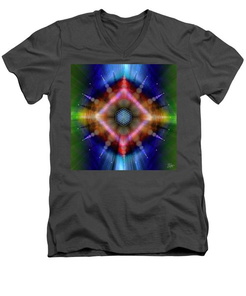 Sacred Geometry 645 Men's V-Neck T-Shirt