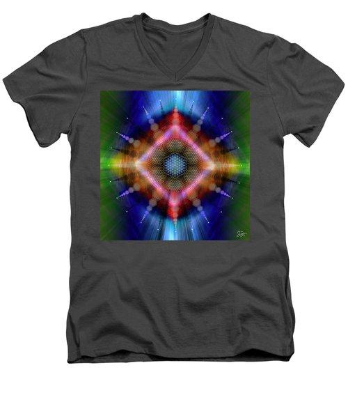 Sacred Geometry 645 Men's V-Neck T-Shirt