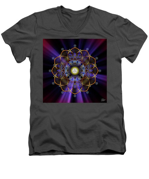Sacred Geometry 647 Men's V-Neck T-Shirt