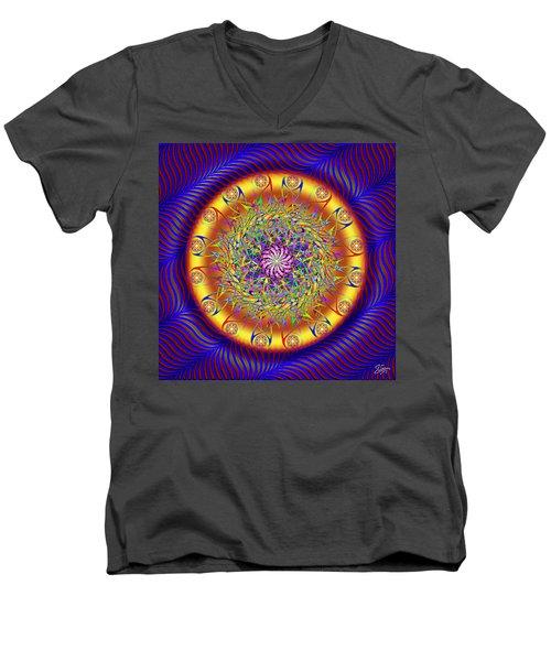 Sacred Geometry 649 Men's V-Neck T-Shirt