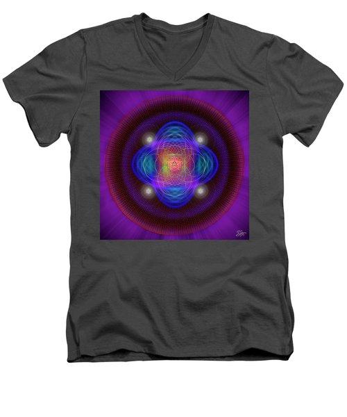 Sacred Geometry 654 Men's V-Neck T-Shirt