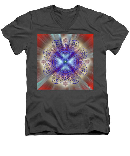 Sacred Geometry 656 Men's V-Neck T-Shirt