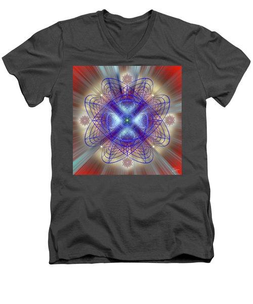 Sacred Geometry 656 Men's V-Neck T-Shirt