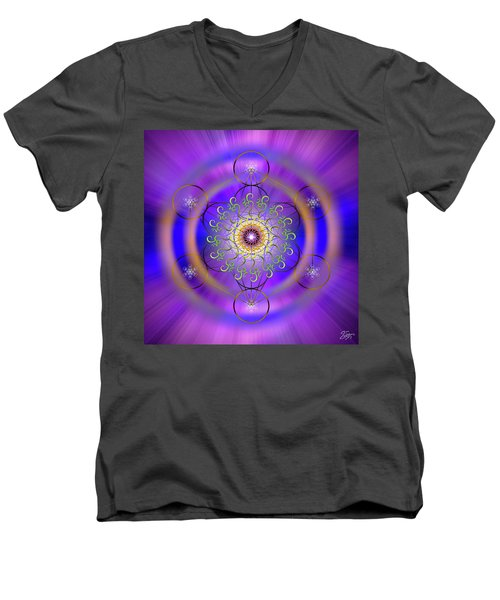 Sacred Geometry 658 Men's V-Neck T-Shirt