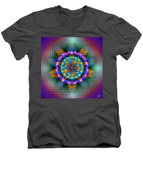 Sacred Geometry 661 Men's V-Neck T-Shirt