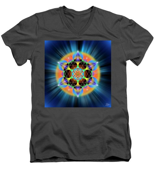 Sacred Geometry 709 Men's V-Neck T-Shirt