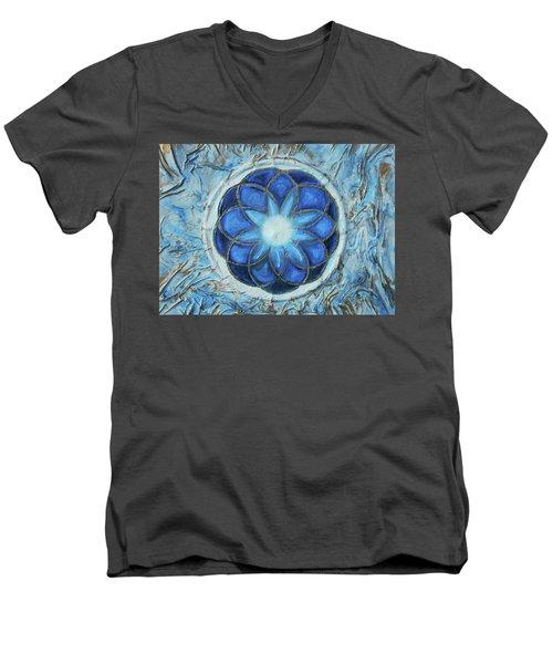 Sacred Geometry Men's V-Neck T-Shirt by Angela Stout