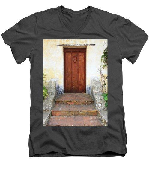 Sacred Heart Door Men's V-Neck T-Shirt