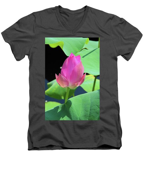 Sacred Pink Men's V-Neck T-Shirt by Inspirational Photo Creations Audrey Woods