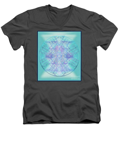 Men's V-Neck T-Shirt featuring the digital art Sacred Symbols Out Of The Void A2b by Christopher Pringer