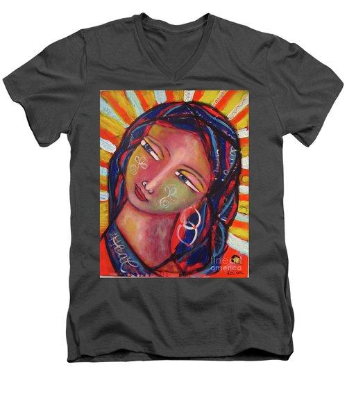 Sacred Traveler, Sacred Healer  Men's V-Neck T-Shirt