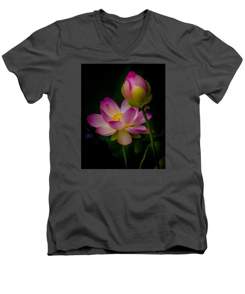 Sacred Water Lily 4 Men's V-Neck T-Shirt