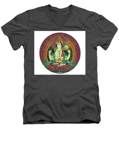 Sada Shiva  Men's V-Neck T-Shirt