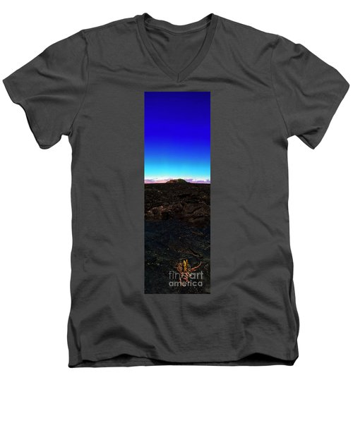 Saddle Road Humuula Lava Field Big Island Hawaii  Men's V-Neck T-Shirt