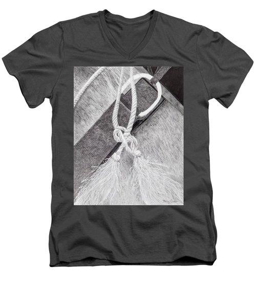 Saddle Strap Men's V-Neck T-Shirt