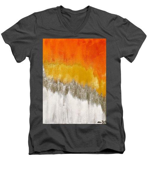 Saffron Sunrise Men's V-Neck T-Shirt