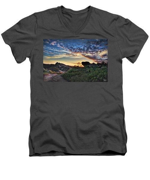 Sage Ranch Sunset Men's V-Neck T-Shirt