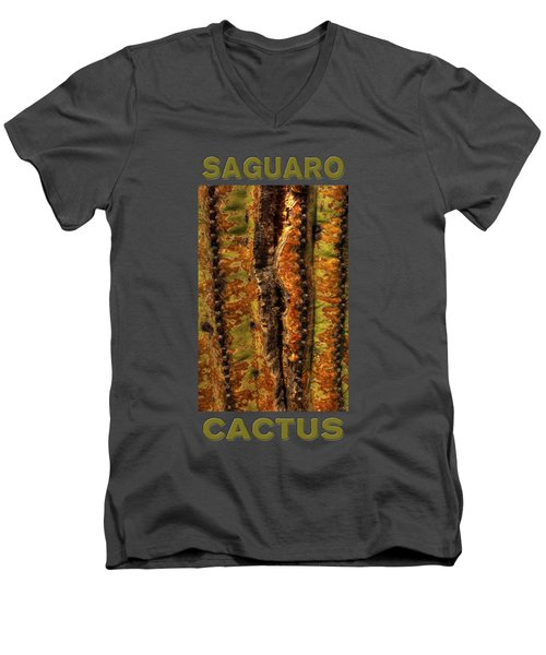 Saguaro Detail No. 23 Men's V-Neck T-Shirt