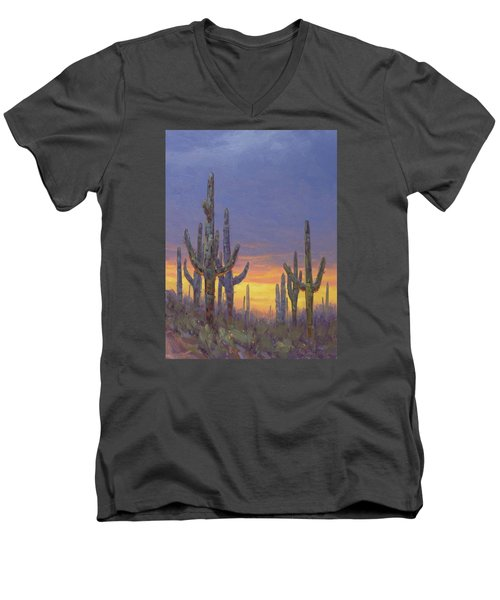 Saguaro Mosaic Men's V-Neck T-Shirt