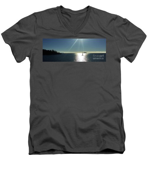 Men's V-Neck T-Shirt featuring the photograph Sail Free by Victor K