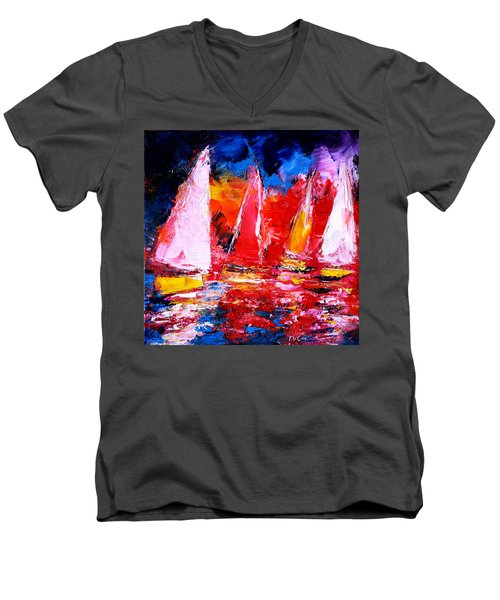 Sail To The Sunset Men's V-Neck T-Shirt