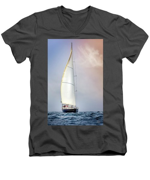 Sailboat 9 Men's V-Neck T-Shirt