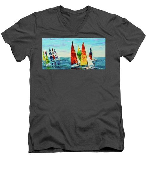Sailboat Race Men's V-Neck T-Shirt