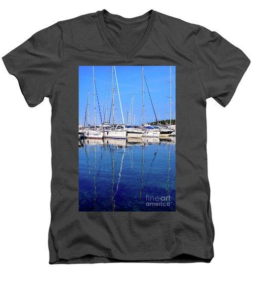 Sailboat Reflections - Rovinj, Croatia  Men's V-Neck T-Shirt