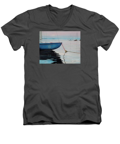 Sailboat Tied Men's V-Neck T-Shirt