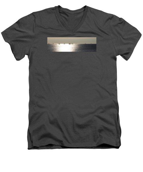 Sailboats On The Horizon Men's V-Neck T-Shirt