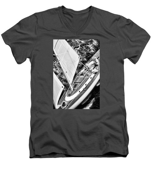 Sailing A Classic Men's V-Neck T-Shirt