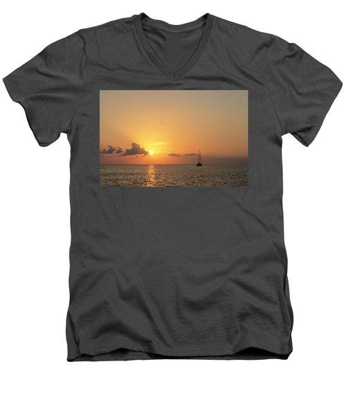 Crusing The Bahamas Men's V-Neck T-Shirt