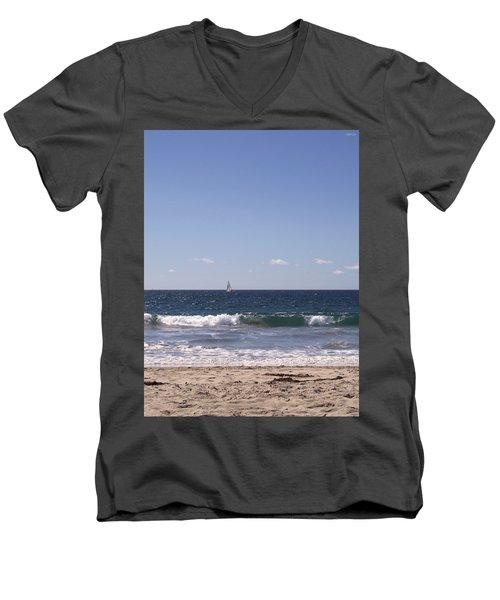 Sailing In California Sunshine Men's V-Neck T-Shirt