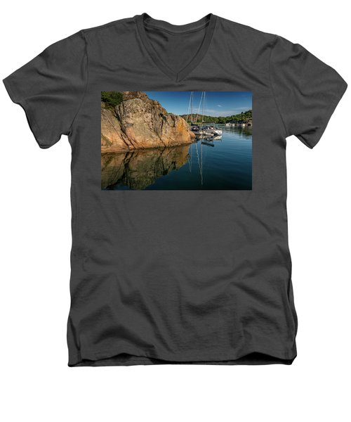 Sailing In Sweden Men's V-Neck T-Shirt by Martina Thompson