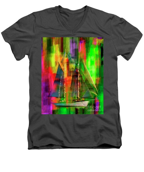 Sailing In The Abstract 2016 Men's V-Neck T-Shirt
