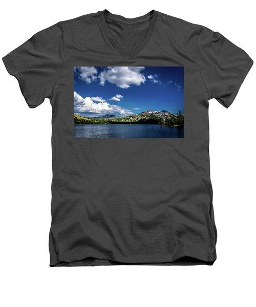 Sailing On Caples Lake Men's V-Neck T-Shirt
